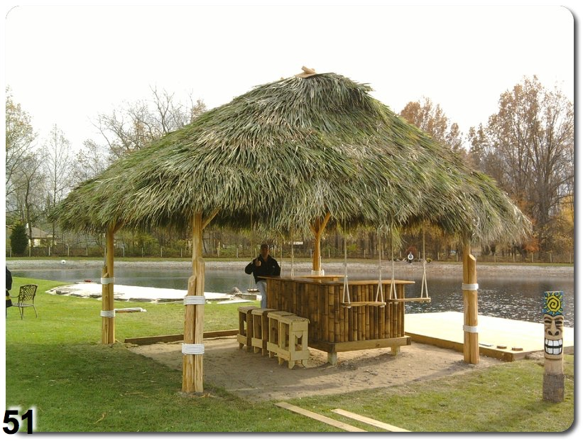dream away and let us do the work to make your tiki bar a reality whether you want a custom sized bar with multiple shelves with plenty of room for all of